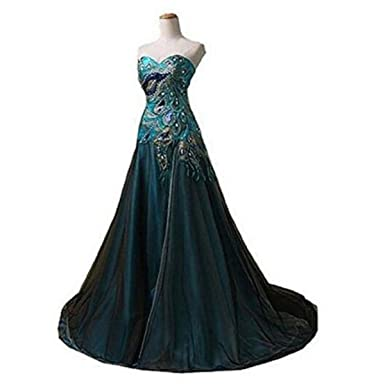 Ailimisi New Peacock Long Dress Popular Evening Dress For Women Party Prom Dresses With Split