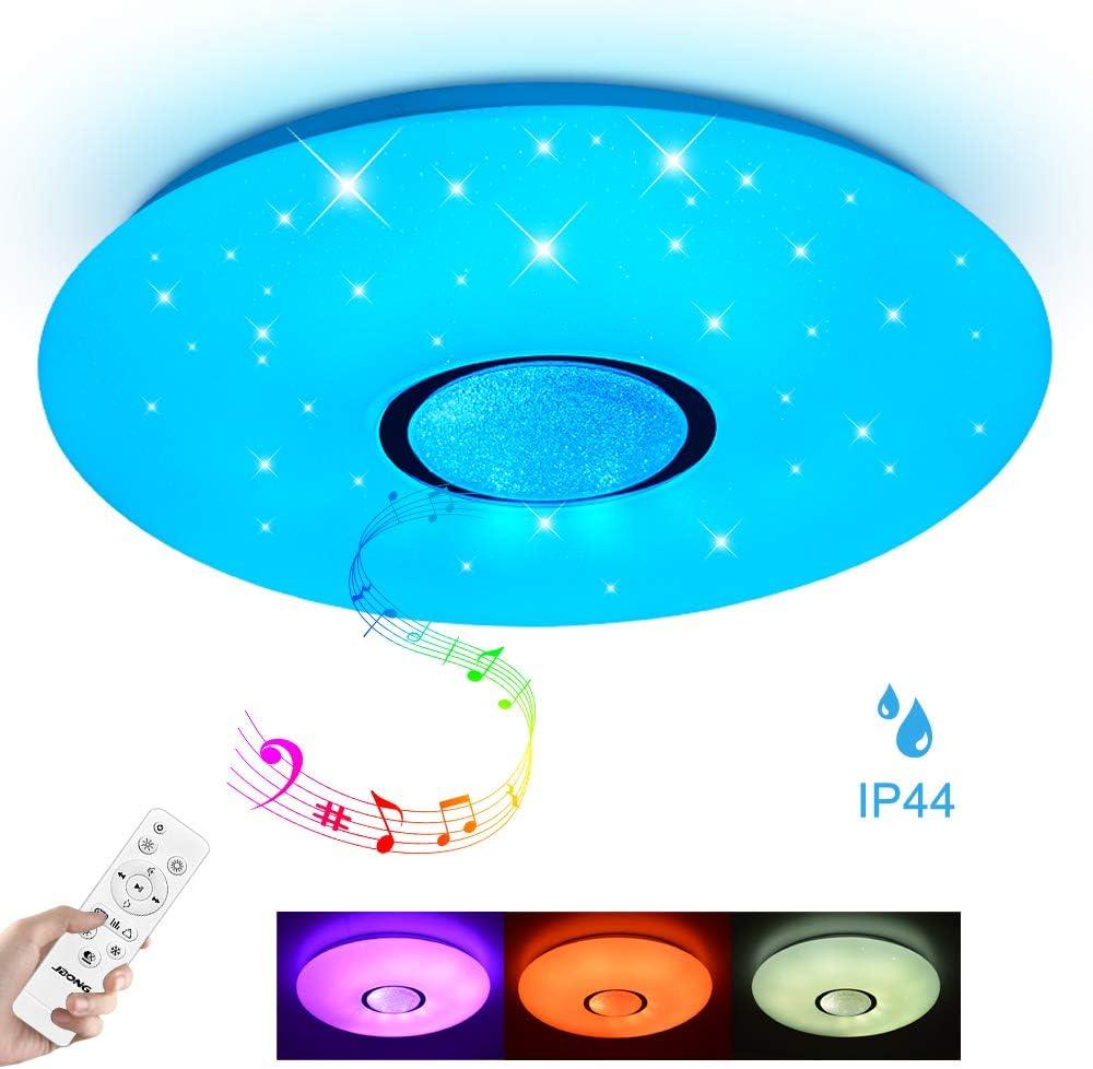 Led Deckenleuchte Bluetooth Lautsprecher dimmbar 24W Farbwechsel