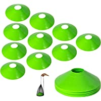 10Pcs Pro Disc Cones - Training Cones Agility Soccer Cones with Carry Bag for Training Soccer Football Basketball Kids…