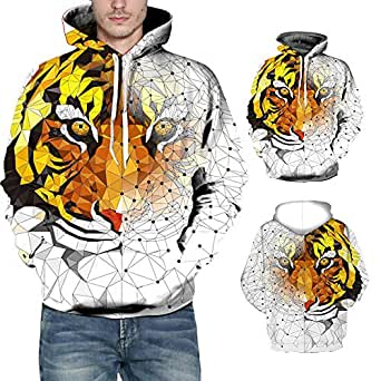 Amazon.com: Men's Winter Long Sleeve Fashion 3D Tiger