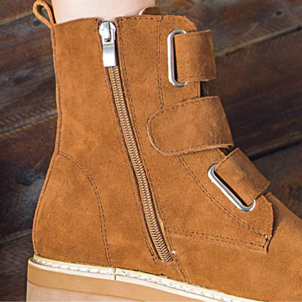 CUYE Woherren Suede Low Low Low Heel Laces Chelsea Ankle Stiefel Inside The Increased Bare Stiefel 2.5-5 0f635e