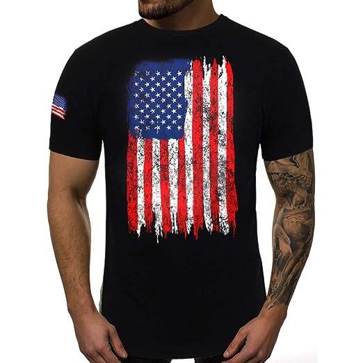 c648ee341 Clothing, Shoes & Jewelry Tuxedo Shirts POHOK Tops for Men Summer Men  Fashion Printing Tees Shirt ...