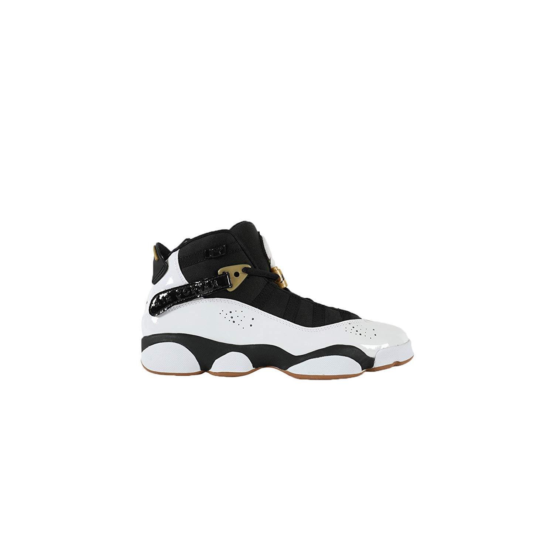 buy popular 7fd83 45fc3 Amazon.com   Jordan 6 Rings White Black-Metallic Gold (Big Kid)   Basketball