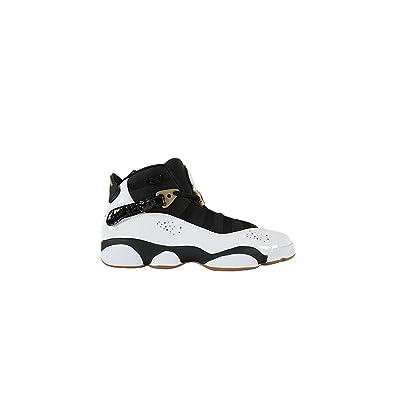 huge discount 5b42b ef0b5 Amazon.com | Jordan 6 Rings White/Black-Metallic Gold (Big ...