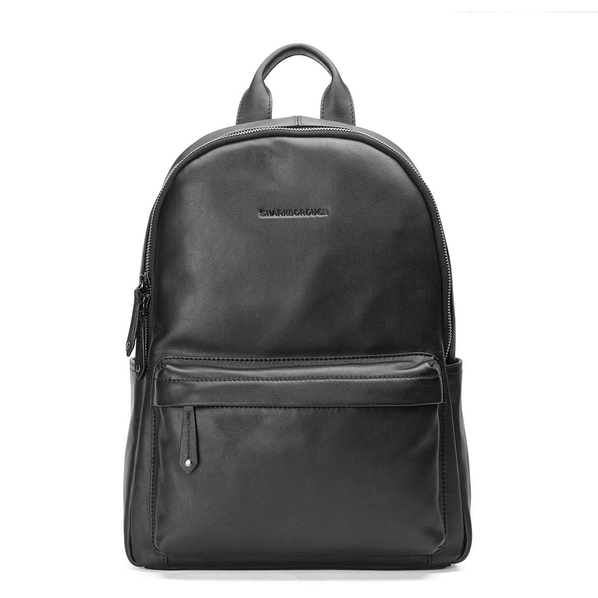 e16a60866 Amazon.com | Sharkborough Jackson Men's Backpack Genuine Leather Travel Bag  Extra Capacity Casual Daypacks (Black - Small Size) | Casual Daypacks