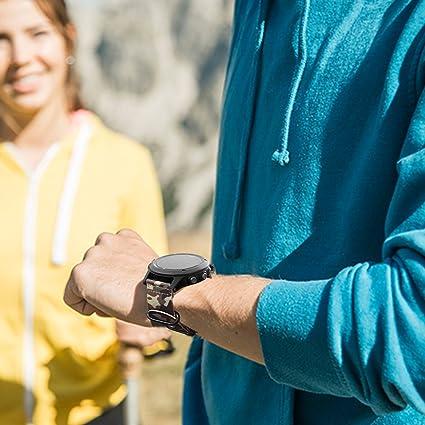 Amazon.com: Fintie Band for Garmin Fenix 5X Plus/Fenix 3 HR Watch, 26mm Premium Woven Nylon Bands Adjustable Replacement Strap for Fenix 5X/5X Plus/3/3 HR ...