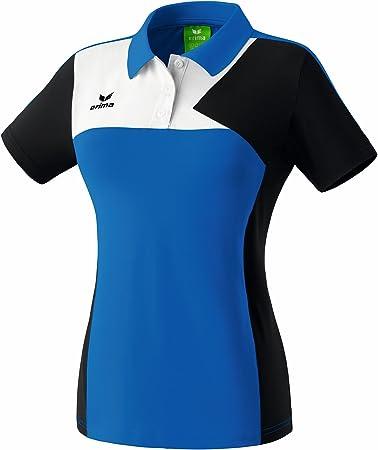 Erima Womens Polo Shirt Small Blue/Black/White