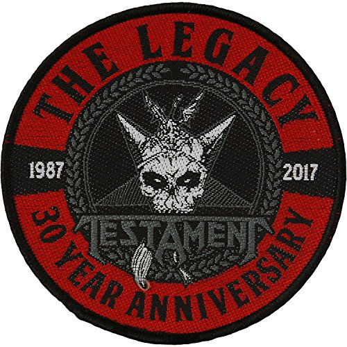 [해외]유언 남자의 유산 30 주년 기념 짠 패치 블랙/Testament Men`s The Legacy 30 Year Anniversary Woven Patch Black