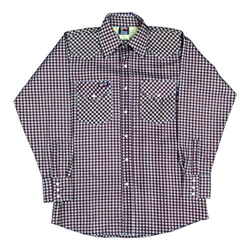 Lapco FR ILU7WS-SM REG FR Western Plaid Shirts, Flame-Res...