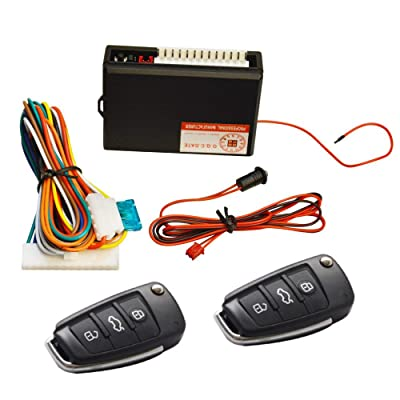 FICBOX Universal Vehicle Security Door Lock Kit Car Remote Control Central Locking Keyless Entry System: Automotive