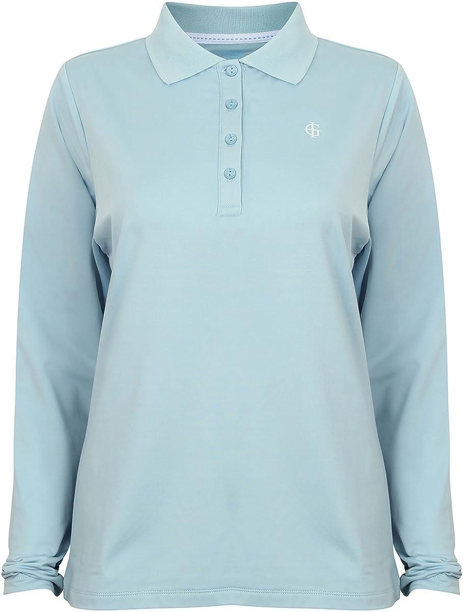 Island Green Iglts1696-Long Sleeve Camisa de Polo, Mujer: Amazon ...