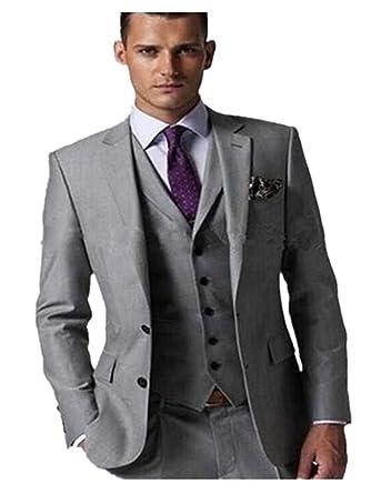 8960c6d33df XGSD Men s Suits 3 Piece Jacket Pants Vest Formal Slim Fit Fashion Business  Suits