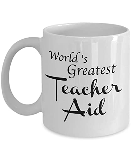 7146b7dc1c1 Teacher Aid Gifts - Thank You Gift Mug for Men, Women, Coworkers, Graduate