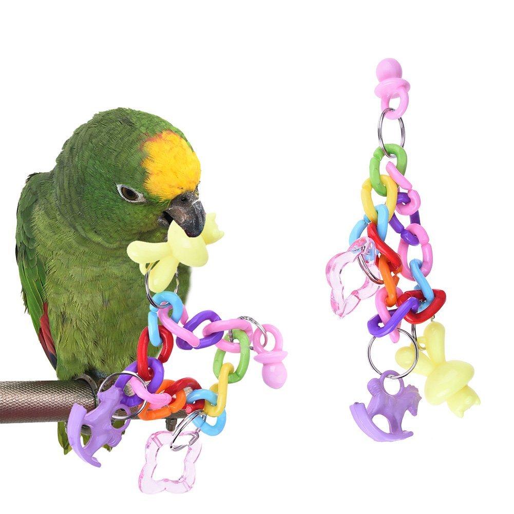 *Super Qualität* Papageien Spielzeug/ Vogelspielzeug Greencolourful