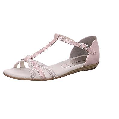 Tamaris Schuhe 1-1-28137-28 bequeme Damen Sandalette, Sandalen, Sommerschuhe für modebewusste Frau, rosa (ROSE/SILVER), EU 39