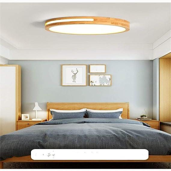 Lámpara Regulablesin De Con Techo Led Madera Creativa Control H29EIWD