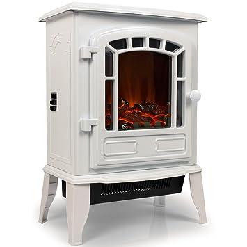 Torino White Clic Feuer Cheminée décorative Chauffage électrique on