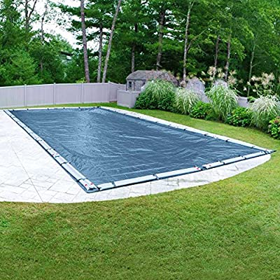 Pool Mate 351224RPM Heavy-Duty Blue Winter Pool Cover for in-Ground Swimming Pools