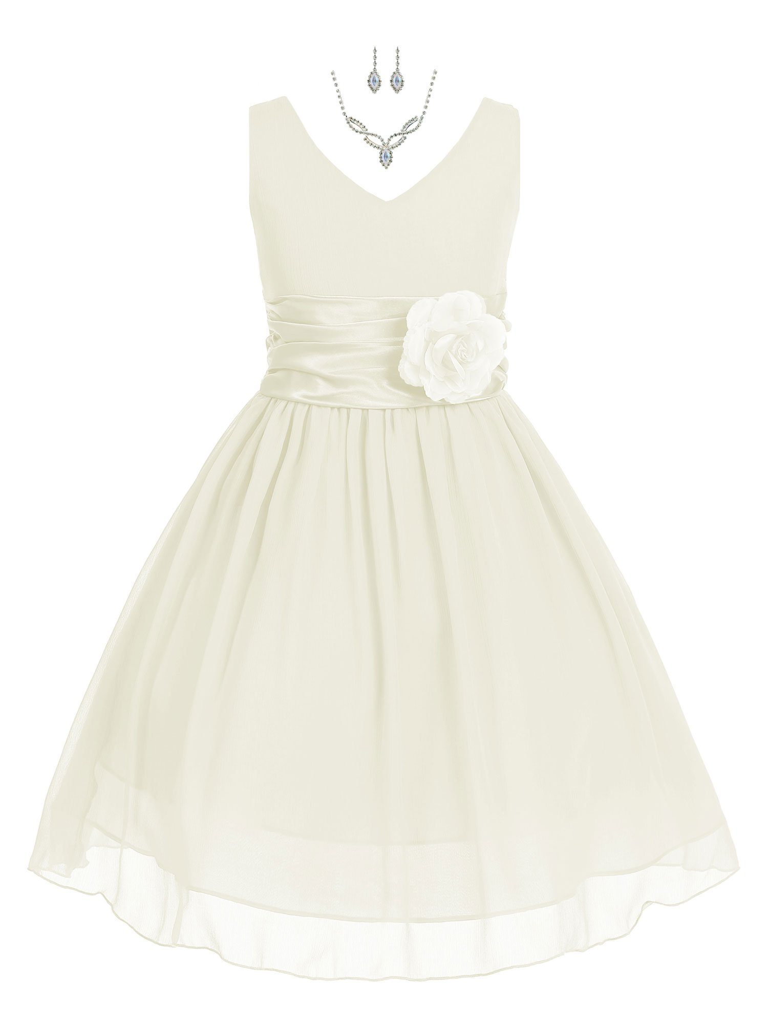 184641ba0a1 Bello Giovane Yoru Chiffon Flower Girl Dress with Free Necklace Set ...