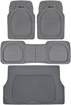 All Weather 4pc Semi Carpet /& Rubber Truck Front Rear Utility Floor Mats