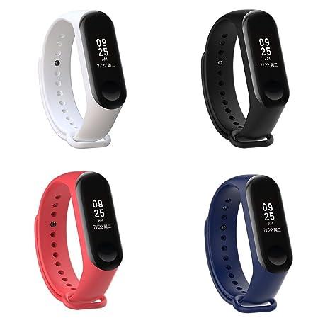 XIHAMA Bracelet de Montre pour Xiaomi mi Band 3, Silicone Bracelets de Remplacement pour mi