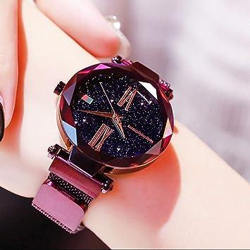 Reloj De Señoras De Moda - Reloj De Cuarzo para Mujer Correa De Acero A  Prueba 6a8eb28631fc