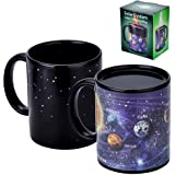 Antner Magic Heat Changing Coffee Mug Solar System Ceramic Heat Sensitive Color Changing Cup,12 oz