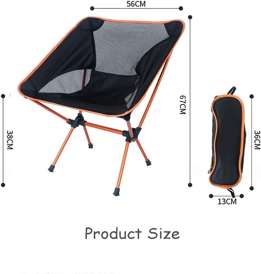 Skyout Silla de Camping Port/átil Plegable,Soporte de aleaci/ón de Aluminio Pa/ño Oxford Impermeable 600D Reclinable Silla de Camping Adecuado para Trekking Jard/ín Playa