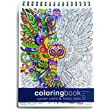 Adult Coloring Book, Garden Paths; Forest Trails -- Large