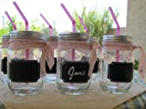 24 Small and Large Mason Jar Chalkboard Labels With White Chalkboard Marker For Organizing Your Home and Kitchen - Perfect For Your Glass And Plastic Jars - Washable Sticker