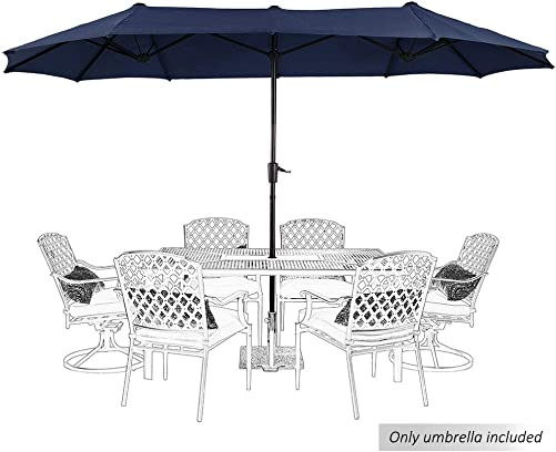 PHI VILLA 13ft Outdoor Market Umbrella Double-Sided Twin Large Patio Umbrella