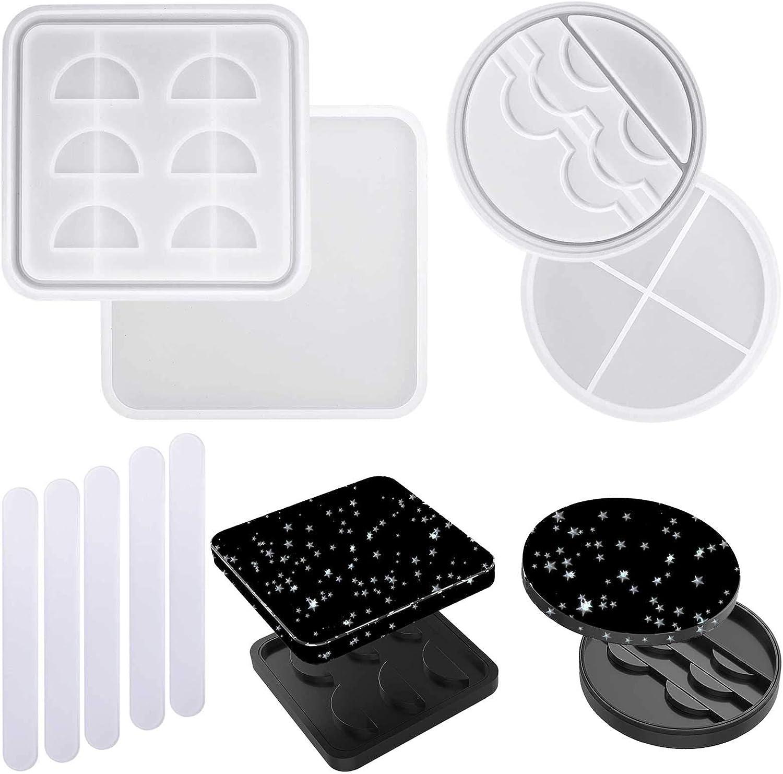 DIY Round Silicone False Eyelash Storage Trays Epoxy Molds Resin Moulds Durable