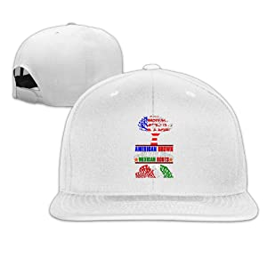 Adult Unisex Cute Crazy American Grown With Mexican Roots Funny Plain Adjustable Caps Baseball Hat Hat World