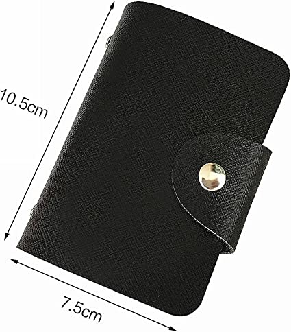 Zhi Jin PU Portefeuille pour cartes de visite Cr/édit ID Nom Cartes Organiseur /écran pour femme Voyage pour homme 24/emplacements de carte dor/é