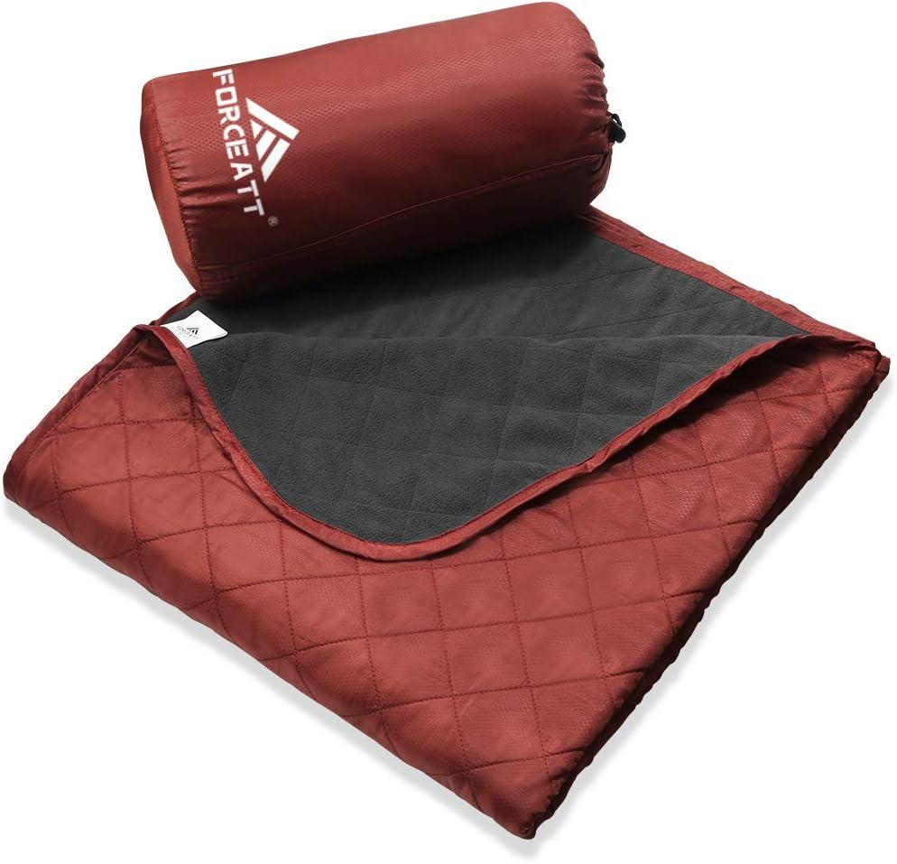 Forceatt Manta de Picnic Peque/ña Manta Impermeable Ultraligera de Bolsillo Picnic al Aire Libre Yoga Acampar Manta de Camping Port/átil 140 cm * 200 cm Viajes