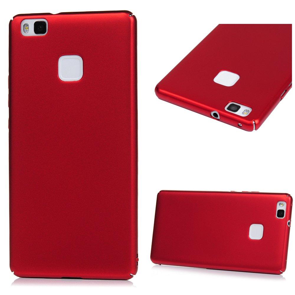 Funda Huawei P9 Lite, Carcasa Ultrafina Suave para Huawei P9 Lite(5.2 Pulgadas), Caso Plástico Rigido Cover Case , Anti-Rasguño y Resistente Huellas - Rojo Geniric S-B16YP7147