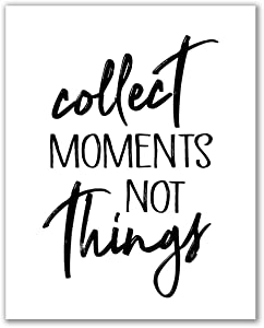 """Midoro Collect Moments Not Things Print - Unframed, Motivational Quote Poster, Inspirational Family Sign, Wedding Calligraphy Wall Art (ollect Moments Not Things, 8"""" x 10"""")"""
