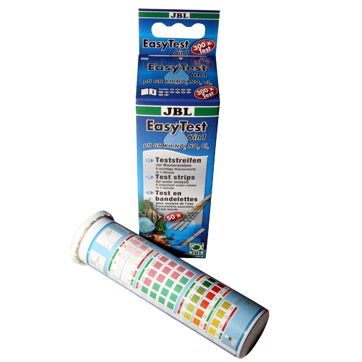 JBL EasyTest 6 en 1, Bandelettes de test pour l'analyse rapide de l'eau d'aquarium 512515