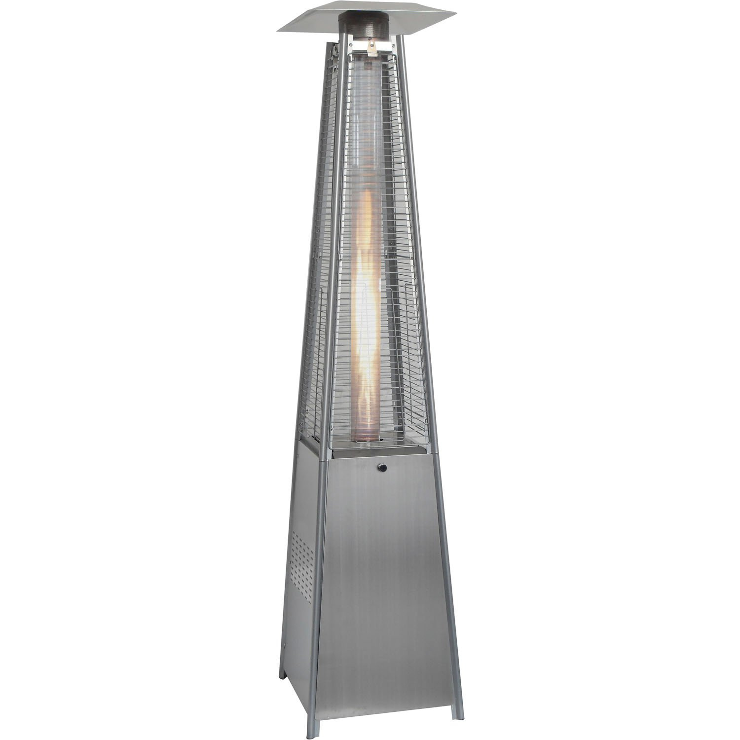 Hanover HAN102SS Portable 7-Ft. 42,000 BTU Pyramid Stainless Steel Propane Patio Heater, 7' by Hanover
