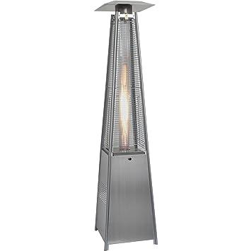 Hanover 42000 BTU Pyramid Propane Patio Heater, 7u0027, Stainless Steel