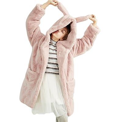 (habille)レディース うさみみ フード オールファーコート 原宿ファッション ガーリー おまけ付(2カラー)
