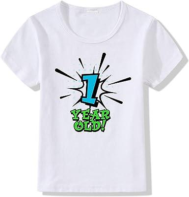 Enfant Fille Garçon Manche Courte T-shirt Tops Imprimé Prince Princesse Cadeau