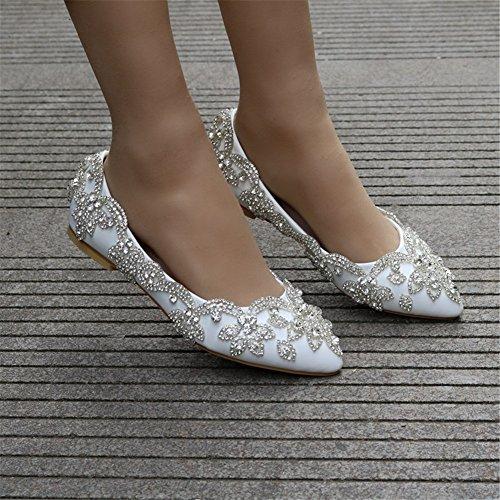 Scarpe Strass Festa Da Piatti A Sposa 35 Da Ballerina Donna 42 Mocassini Nozze MSFS 4x0Hwd4