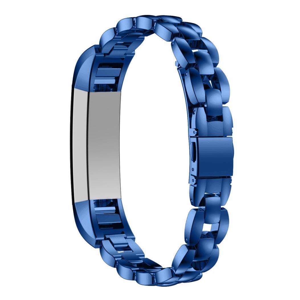 Bracelet pour Fitbit Alta YUYOUG Bracelet en Acier Inoxydable Remplacment Bandes R/églable avec M/étal Fermoir pour Fitbit Alta