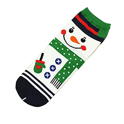 Hongxin Santa Claus 3D Printed Christmas Women Casual Socks Cute Unisex Low Cut Ankle Socks