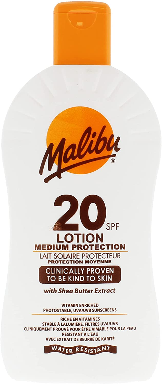 Protector solar Malibu, SPF 20,400ml