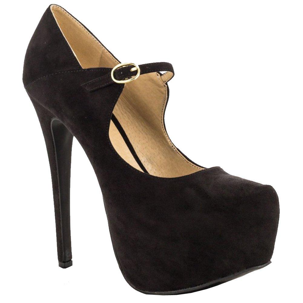 Kolnoo Damen 15cm Absatz-Jane-Schuhe einfache tägliche Parteibüro Abend Pumpen