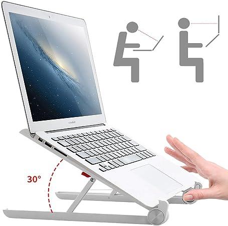 DULPLAY Plegable Ajustable Soporte para Laptop, para Escritorio ...