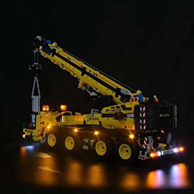 PeleusTech USB Operated LED Light Kit for Lego Technic Mobile Crane 42108 - LED Included Only,No Lego Kit: Toys & Games