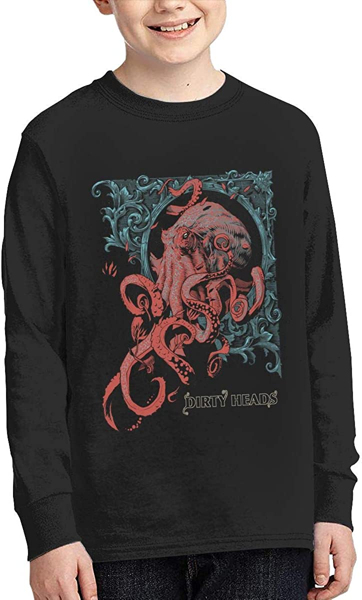 MichaelHazzard Dirty Heads Youth Comfortable Long Sleeve Crewneck Tee T-Shirt for Boys and Girls